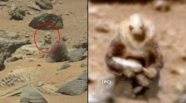 Mars'tan dünyaya gelen sıra dışı görüntüler...