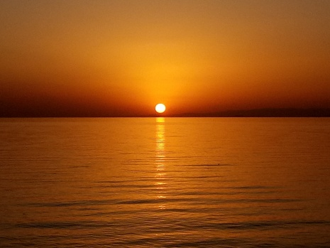 Van'da gün batımı