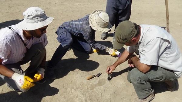 Van'da 2700 yıllık Urartulu kadının ayak izine rastlandı