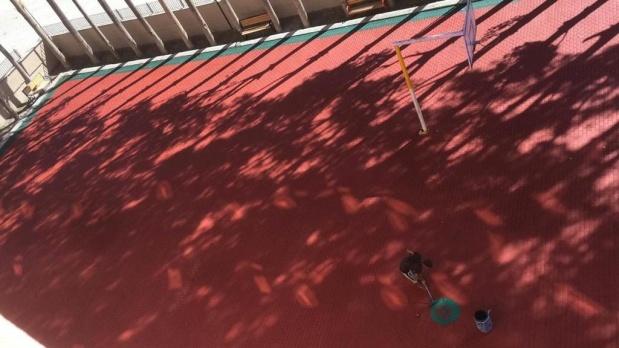 İpekyolu'nda okullar asfaltlarla renkleniyor