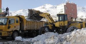 Başkale'de karla mücadele çalışmaları