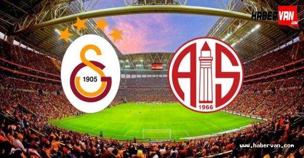Galatasaray Antalyaspor maçını canlı takip TRT RADYO 1 dinle!Maç kaç kaç!