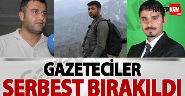 Gözaltına alınan gazeteciler serbest-Van haberleri