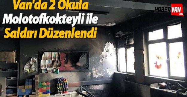 Van'da 2 Okula Molotofkokteyli İle Saldırı Düzenlendi-Van haberleri