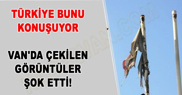 Van'daki sağlık ocaklarının Türk bayrağı ayıbı!