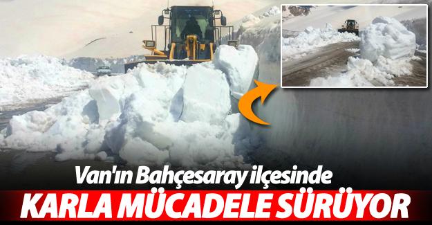 Nisan ayında Van'da karla mücadele çalışmaları devam ediyor! - Van Haber