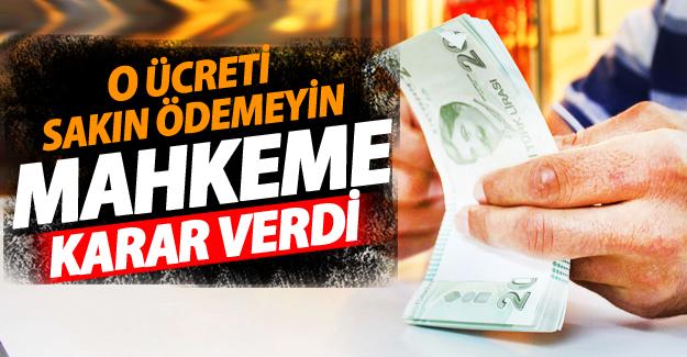 Tüketici Mahkemesi'den Acillerde Alınan Parayla ilgili net karar!