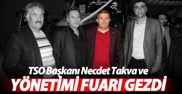 Van TSO Başkanı Necdet Takva ve yönetimi fuarı gezdi