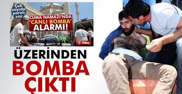 Adana'daki Camideki eylemcinin üzerinden el yapımı bomba çıktı