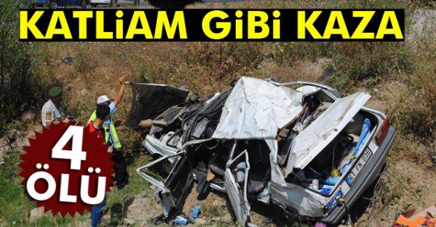 Amasya'da katliam gibi kazada 4 kişi can verdi