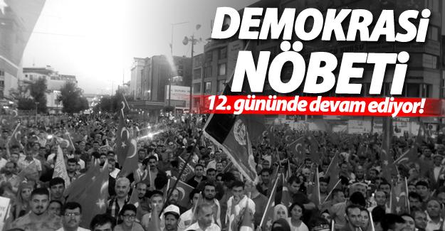 Demokrasi nöbeti 12. gününde
