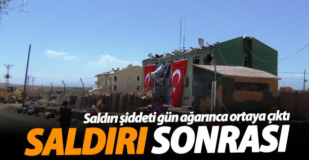 Erciş'teki Karakol Saldırısında Büyük Hasar Meydana Geldi