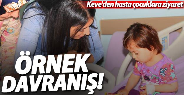 Eş Başkan Keve'den hasta çocuklara ziyaret