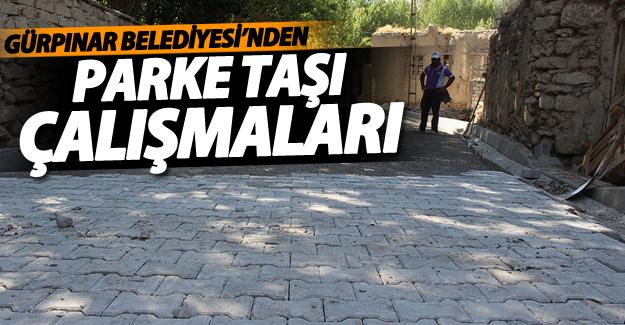 Gürpınar Belediyesi'nin köy içi çalışmaları devam ediyor