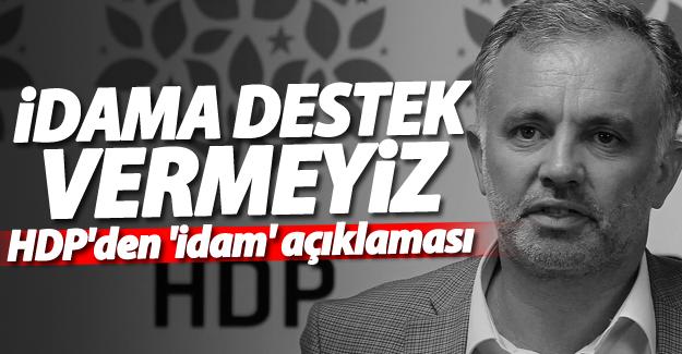 HDP'den 'idam' açıklaması
