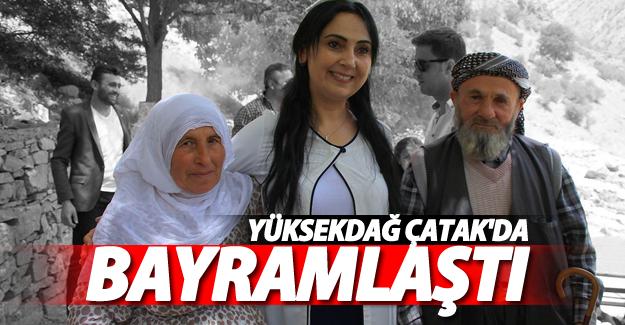 HDP Eş Genel Başkan'ı Yüksekdağ Çatak'da Bayramlaştı