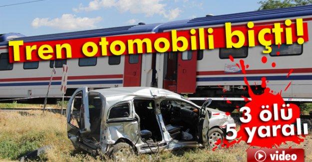 Kahramanmaraş'ta yük treni aracı biçti:3 ölü