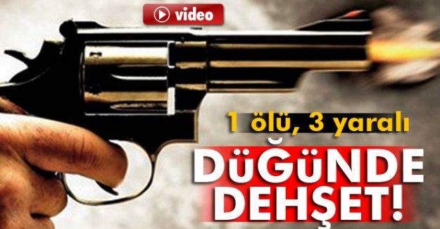 Kırşehir'in Çiçekdağı ilçesinde düğünde dehşet 1 ölü