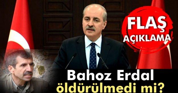Kurtulmuş'tan, Bahoz Erdal açıklaması