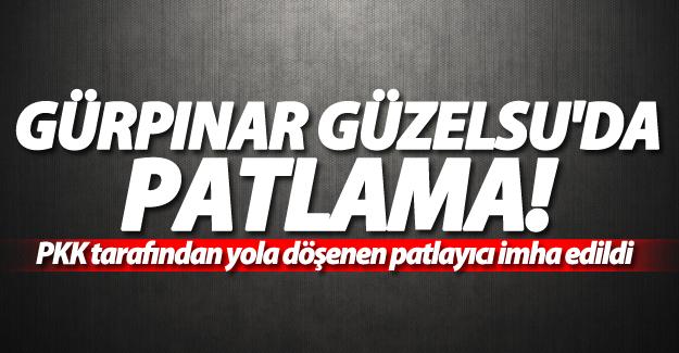PKK tarafından yola döşenen patlayıcı imha edildi