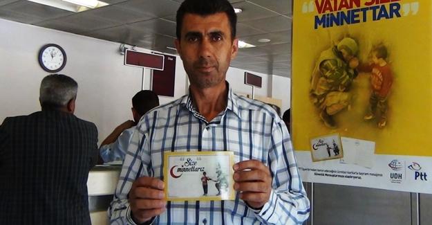 Ptt'nın kampanyasına Erciş'ten destek!