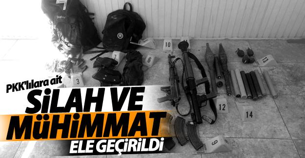 SON DAKİKA! PKK'lılara ait silah ve mühimmat ele geçirildi