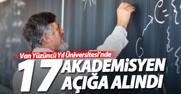 SON DAKİKA! YYÜ'de 17 akademisyen açığa alındı