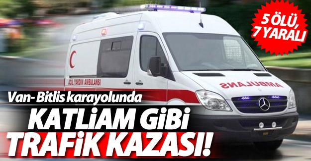 Van-Bitlis karayolu'nda düğün konvoyunda feci kaza; 5 ölü, 7 yaralı