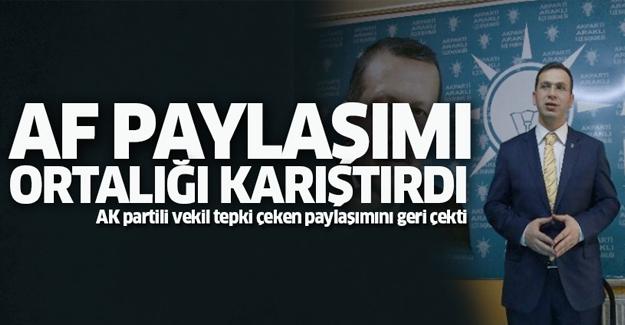 AK Partili vekilin KHK paylaşımı ortalığı karıştırdı