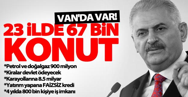 Basbakan'ın Diyarbakır'da açıkladığı yatırım paketinde Van'a da müjdeler var.