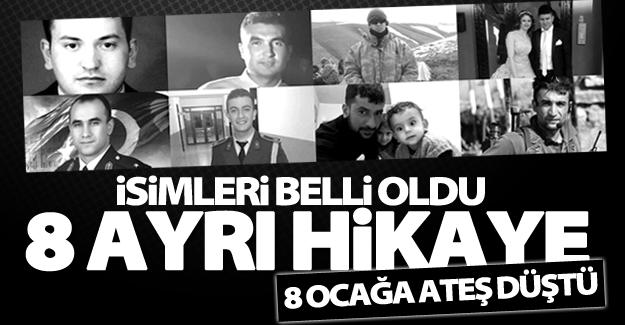 Çaldıran Tendürek'te şehit düşen 8 askerin isimleri belli oldu