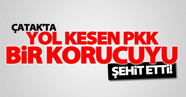 Çatak'ta yol kesen PKK mensupları bir korucuyu şehit etti