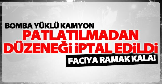 Ercişte'ki bomba yüklü kamyon patlatılmadan etkisiz hale geitirildi