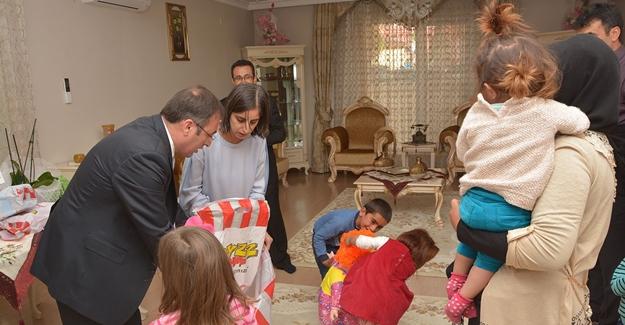 Kaymakam Akgül, şehit ailesini evinde ağırladı