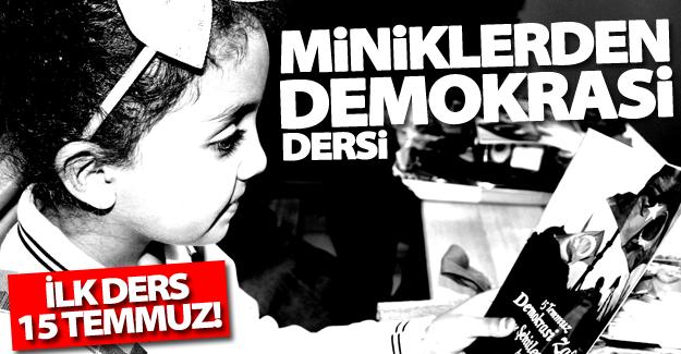 Miniklerden demokrasi dersi