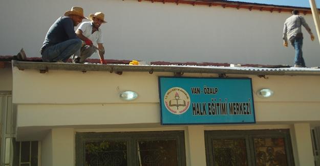 Özalp Halk Eğitim ve Akşam Sanat Okulu onarıldı