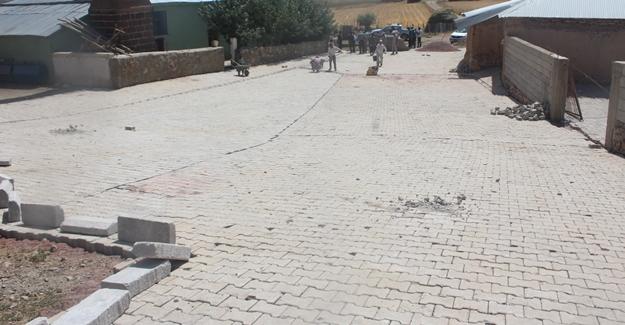 Saray Belediyesi kilit taşı çalışmaları