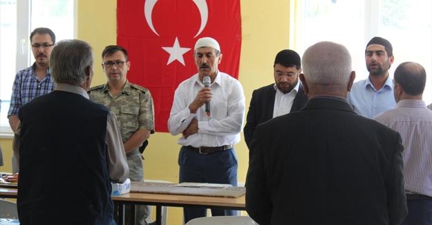 Şehit Polis Varlı için memleketi Gürpınar'da mevlit