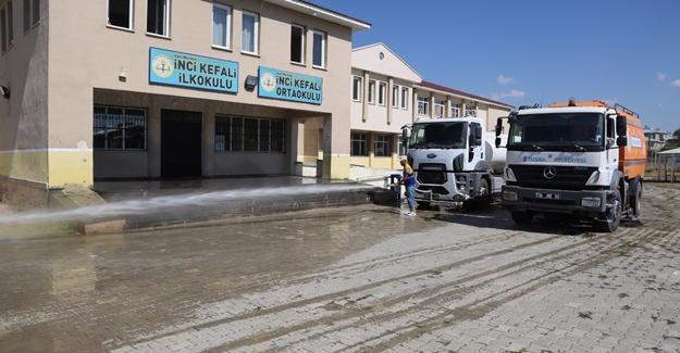 Tuşba Belediyesi'nden eğitime temizlik desteği