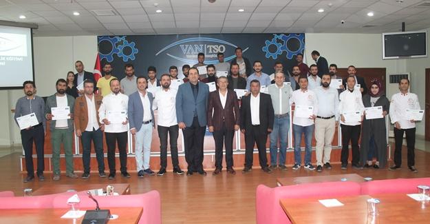 Van TSO'da girişimciler sertifikalarını aldı