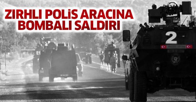 Zırhlı polis aracına bombalı saldırı