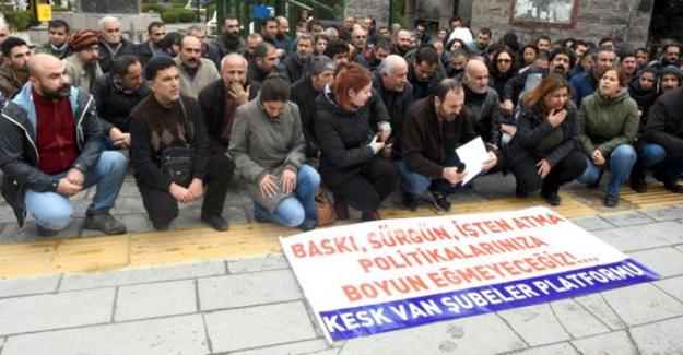 10 Bin 131 görevlinin işten uzaklaştırılması Van'da protesto edildi
