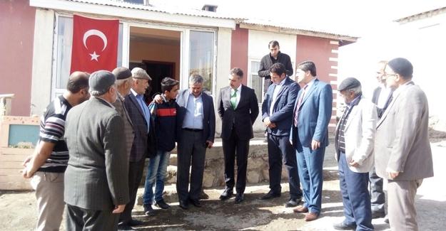 ASP İl Müdürü Koç'tan Muştu'nun ailesine taziye ziyareti