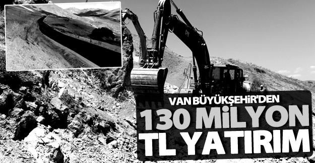 Büyükşehir Belediyesi 2016 yılı içerisinden 130 milyon TL yatırım!