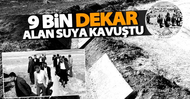 Büyükşehir, Muradiye'de 9 bin 100 dekar alanı suya kavuşturdu