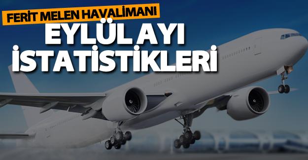 Ferit Melen Havalimanı eylül ayı uçuş istatistikleri