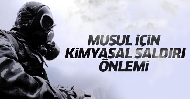Musul'da kimyasal saldırı önlemi