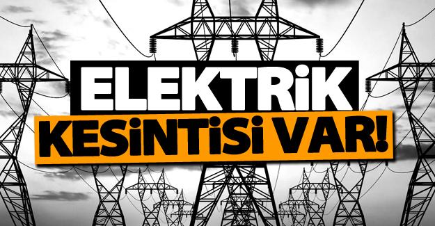 Van'da programlı elektrik kesintisi! 19 Ekim 2016