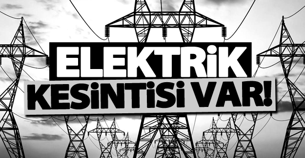 Van'da programlı elektrik kesintisi! 28 Ekim 2016