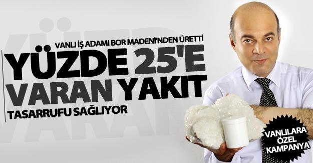 Vanlı İşadamı Mehmet Can Arvas Borvigor ürünüyle dikkat çekti
